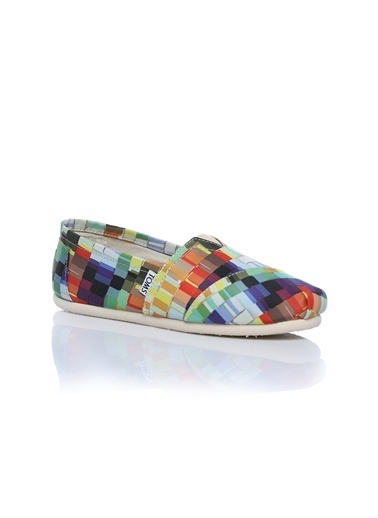 Toms Multi Satin Paint Print Wm Clsc Renkli